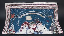 And Heaven and Nature Sing Sandi Gore Evans Tapestry Wall Hanging Snowman