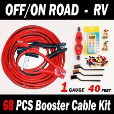 OFF/ON ROAD – RV - 68 PCS BOOSTER CABLE KIT - 40 FT 1 GAUGE Jumper Cables