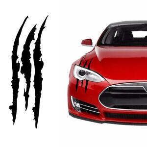 1x Universal Black Scratch Stripe Headlight Truck Sticker Decal Car Accessories