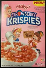 NEW KELLOGGS STRAWBERRY KRISPIES FLAVORED SWEETENED RICE CEREAL 11.5 OZ BOX BUY