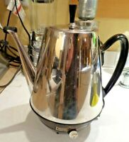Vintage Sears 12 Cup Electric Coffee Maker Pot Percolator Automatic Tested MidC