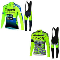 Team Cycling Jerseys Mens Cycling long Sleeve Jersey And Bib Pants Set Bike Suit