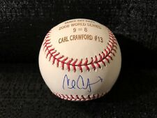 Carl Crawford Signed Tampa Bay Rays 2008 World Series MLB Engraved Baseball