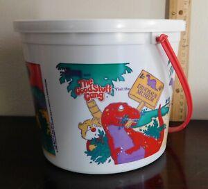 Vintage Definitely Dinosaurs 1988 Wendy's Bucket w/ 3 Dinosaurs Brand New! Mint!