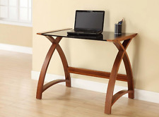 Walnut Laptop or Computer Desk / Table - PC201- 900mm - By Jual Furnishings
