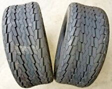 2 - 20.5X8.0-10 12 Ply Deestone D268 Trailer Tires pontoon camper snowmobile