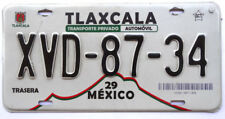 Tlaxcala Original  Used Expired Mexico License Plate XVD