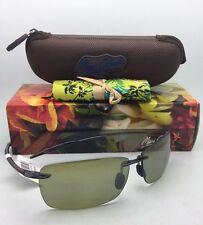 Polarized MAUI JIM LIGHTHOUSE Sunglasses MJ 423-11 Smoke Grey Frame Green Lenses