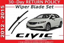 🔥 NEW GENUINE HONDA CIVIC 4 DOOR WIPER BLADE SET 2012-2015 🔥