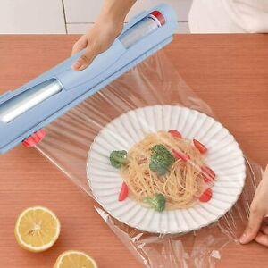 Cling Film Dispenser Holder Cutter Food Wrap Kitchen Food Wrap Foil Plastic