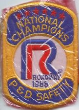 Roadway Express 1988 National champions P&D safety driver patch 4-1/4/X2-3/4