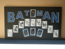 Batman playing cards mounted montage clubs, spades, hearts, diamonds