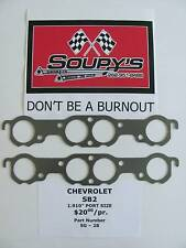 "Chevrolet Sb2 Exhaust Gaskets (1.910"" Port Size)"