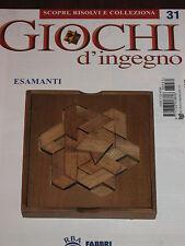 "Giochi D'Ingegno ""ESAMANTI"" Fabbri Editore n° 31"