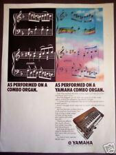 1974 vintage music Ad Yamaha YC 45D Combo Organ