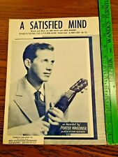 A Satisfied Mind Sheet Music as Recorded by Porter Wagoner