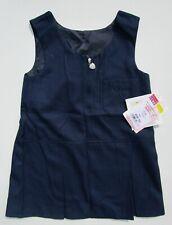 david LUKE Girls Junior School Pinafore Teflon Zip Front Blue Age 3/4 BNWT