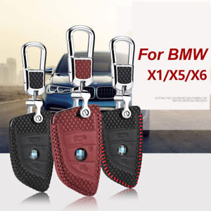 For BMW x5 x1 x6 2 Series Car Smart Remote Key Fob Case Holder Leather Cover Bag
