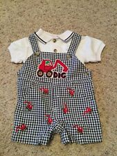 NWOT Boys Size 3 Month Shortall Outfit