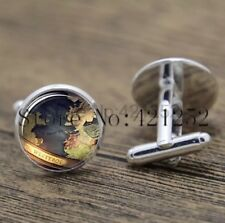 Cufflinks Glass Silver Game Of Thrones New & Sealed