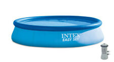 "Intex 28141Eh 13ft x 33"" Easy Set Inflatable Swimming Pool w/530 Gph Filter Pump"