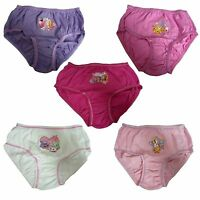 Girls Shopkins Pak 5 Briefs Pants Knickers Underwear Ages 3-4 5-6 7-8  9-10 New