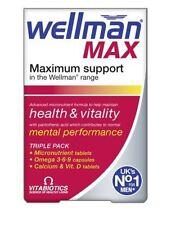 Vitabiotics Wellman Health Vitality Max 84 Tablets with Vitamin D & Omega 3 6 9