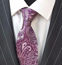 Tie Neck tie with Handkerchief Purple & Lilac Floral