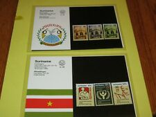 Suriname, 8 Verkaufsmäppchen mit Briefmarken aus 1990, xx, und ausführliche Info