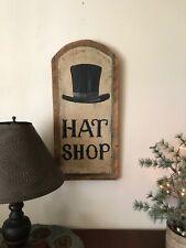 """Primitive Colonial Top Hat Shop  Painted  25.1/4."""" x 11.3/4"""""""