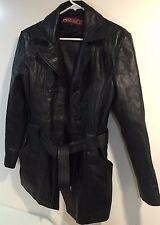 PHASE 2 Soft LEATHER Jacket COAT Womens Size S/reg  Black