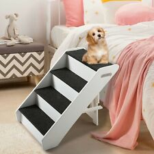 New Listing4 Steps Portable Dog Steps for High Bed Pet Stairs Small Dogs Cats Ramp Ladder