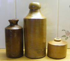 Bourne Ginger Beer & Two Ink Bottles.