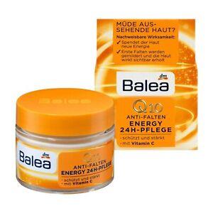 Balea Day Care Q10 + Vitamin C Cream 50 ml Anti-Wrinkle Provide 24h Skin Energy