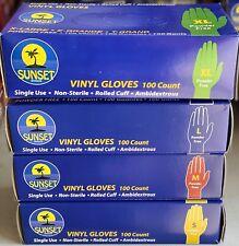 Vinyl Gloves Select Size: S,M, L, XL NON-Latex Exam-General 100 CT BOX