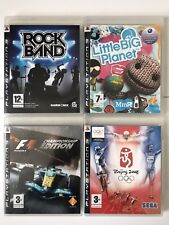 PS3 Game Bundle-Little Big Planet+Rock Band+Olympics Beijing+Formula One F1 -871