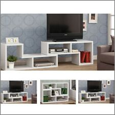 Modern TV Stand Entertainment Book Case Media Center Table Wood Shelf Console