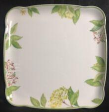 VILLEROY & BOCH 1748 Green Garland Square Platter Fine China NEW