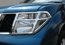 NISSAN FRONTIER NAVARA D40 PATHFINDER R51 05-09 CHROME COVER HEAD LIGHT LAMP