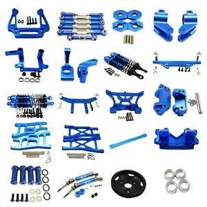 Aluminum Metal CNC Upgrade Parts DIY Fit for Rc 1/10  traxxas slash 2wd N-blue