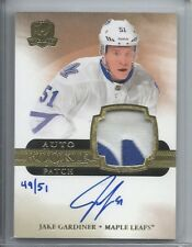 2011-12 UD THE CUP RC GOLD RAINBOW PARALLEL AUTO PATCH JAKE GARDINER /51 LEAFS