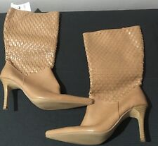 Target Brand Size 8.5 Tan Mid Calf Weave Pointy Boots