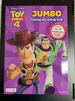 DISNEY PIXAR TOY STORY 4 JUMBO COLORING AND ACTIVITY BOOK NEW MOVIE KIDS FUN!