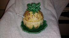 Pineapple jam/jelly jar with spoon