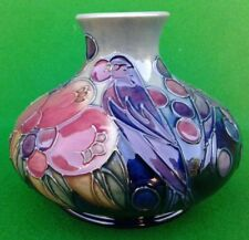 MOORCROFT VASE - FINCHES PATTERN by SALLY TUFFIN.