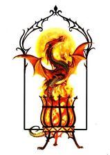 Temporary Tattoo, Dragon Tattoo, AGD234 11-12, Drache aus dem  Feuerkelch