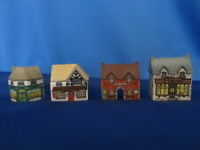 Wade England Porcelain Whimsie On Why Qty 4 Station Grocer Chemist Post Office
