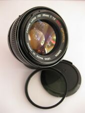 Canon FD 55mm F1.2 Aspherical Lens with Hoya 58mm UV Filter - Pristine