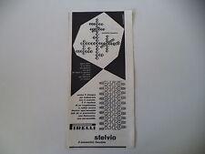 advertising Pubblicità 1953 PNEUMATICI PIRELLI STELVIO