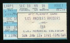 Bo Jackson Injury Game Ticket 1990 Playoffs vs. Bengals Ends Football Career